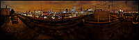 London rooftop panorama. Available as a panoramic-sized print only.