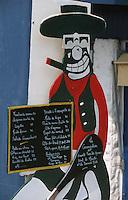 """Europe/France/Aquitaine/64/Pyrénées-Atlantiques/Bidart: Porte menu du restaurant """"La Cucaracha"""""""