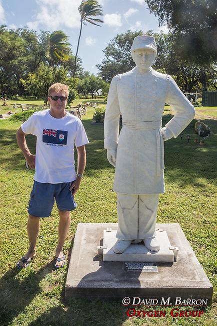 Adam & Statue Of Capt. Joseph Dutton