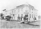 The Broadwell House Hotel in Alamosa, burned down ca. 1885.<br /> Alamosa, CO  Taken by Davis, O. T. - 1880