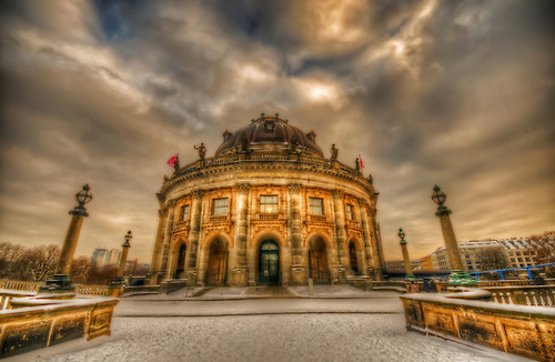The Bode museum Berlin, winter day.