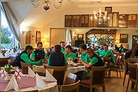 Team Ireland chilling after Round 2 of the Men's Home Internationals 2018 at Conwy Golf Club, Conwy, Wales on Thursday 13th September 2018.<br /> Picture: Thos Caffrey / Golffile<br /> <br /> All photo usage must carry mandatory copyright credit (&copy; Golffile | Thos Caffrey)