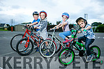 Eamonn wiseman, Eoin Wiseman, Miren Wiseman and Anthony Lyon  Launching the Ardfert Harvest Cycle on Saturday 9th September starting at 10am