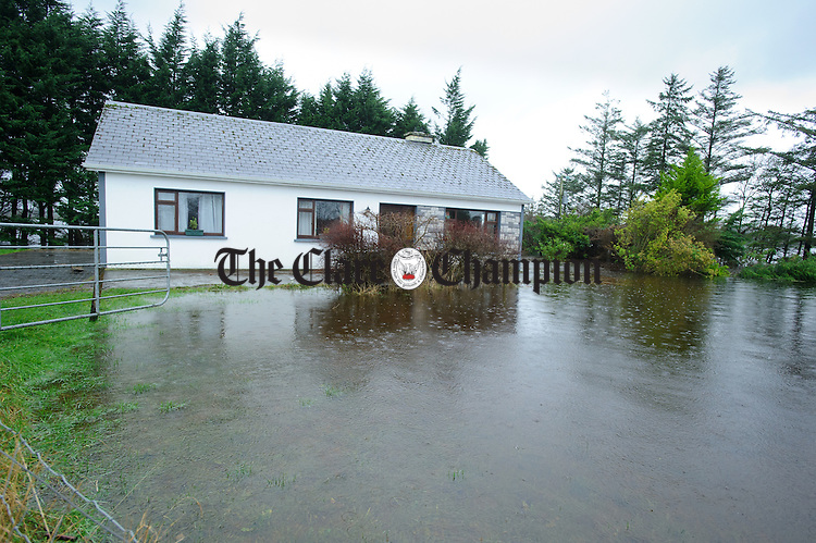A home on the road from Castledaly to Bullaunagh as the flood waters rise in the Castledaly/Peterswell area of South Galway. Photograph by John Kelly.