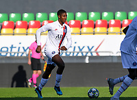 20191022 – OOSTENDE , BELGIUM : PSG's Moussa Sissako pictured during a soccer game between Club Brugge KV and Paris Saint-Germain ( PSG )  on the third matchday of the UEFA Youth League – Champions League season 2019-2020 , thuesday  22 th October 2019 at the Versluys Arena in Oostende  , Belgium  .  PHOTO SPORTPIX.BE   DAVID CATRY