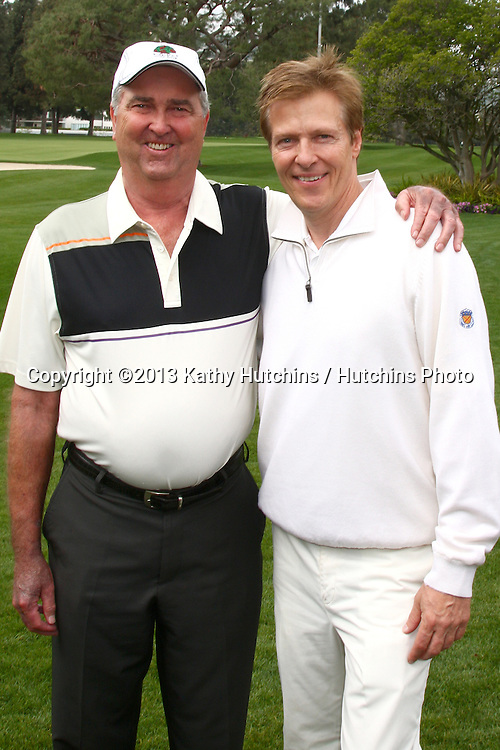 LOS ANGELES - APR 15:  Dennis Wagner, Jack Wagner at the Jack Wagner Celebrity Golf Tournament benefitting the Leukemia & Lymphoma Society at the Lakeside Golf Club on April 15, 2013 in Toluca Lake, CA