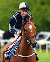 Singing The Blues ridden by Rob Hornby goes down to the start of The DEOS Group Handicap during Evening Racing at Salisbury Racecourse on 11th June 2019