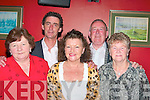 Enjoying the Asdee races fundraising dance in the Golf Hotel Ballybunion on Friday night were Joan Dillon, Ballyduff, Helen Dunworsth Dublin, and Ann Allen, Ballybunion, with Michael Dunsworth Dublin and Tom Allen, Ballybunion...   Copyright Kerry's Eye 2008