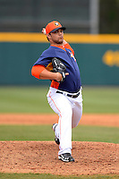 Houston Astros pitcher Xavier Cedeno #63 during a Spring Training game against the St. Louis Cardinals at Osceola County Stadium on March 1, 2013 in Kissimmee, Florida.  The game ended in a tie at 8-8.  (Mike Janes/Four Seam Images)
