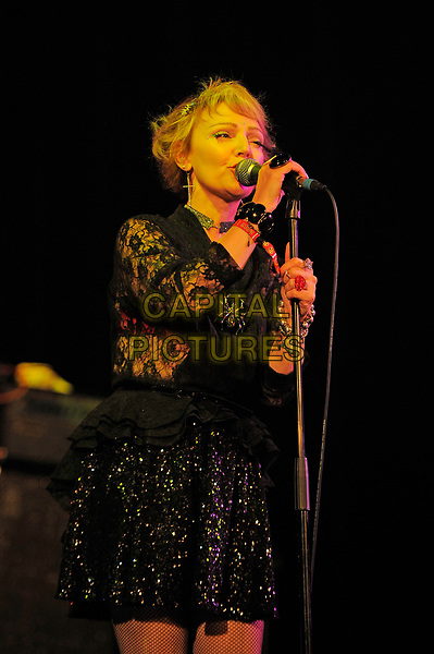 BLACKPOOL, ENGLAND - AUGUST 6: Tracy Tracy (Tracy Cattell) of 'The Primitives' performing at Rebellion Festival, Winter Gardens on August 6, 2017 in Blackpool, England.<br /> CAP/MAR<br /> &copy;MAR/Capital Pictures