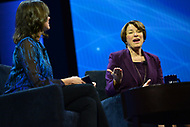 Washington, DC - March 5, 2018: U.S. Senator Amy Kolbuchar speaks during the 2018 American Israel Public Affairs Committee (AIPAC) Public Policy Conference at the Washington Convention Center March 5, 2018.  (Photo by Don Baxter/Media Images International)