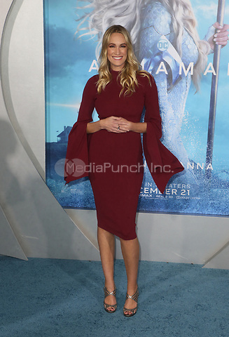 "HOLLYWOOD, CA - DECEMBER 12: Ashlan Gorse Cousteau, at Premiere Of Warner Bros. Pictures' ""Aquaman"" at The TCL Chinese Theater in Hollywood, California on December 12, 2018. Credit: Faye Sadou/MediaPunch"