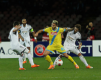 Valon Behrami <br /> <br />  UEFA Europa League round of 32 second  leg match, betweenAC  Napoli  and Swansea City   at San Paolo stadium in Naples, Feburary 27 , 2014