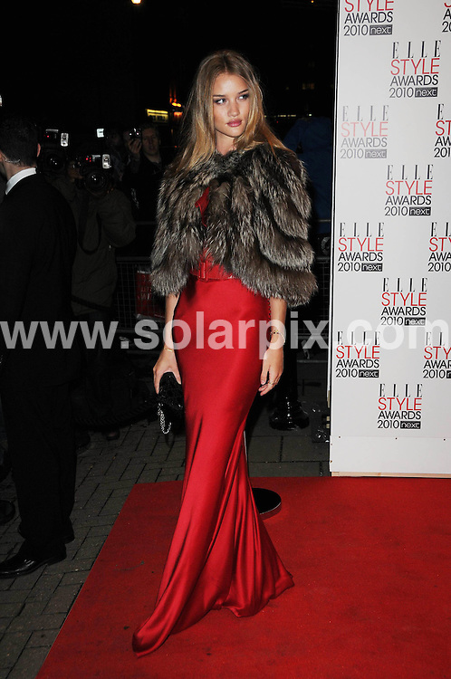 **ALL ROUND PICTURES FROM SOLARPIX.COM**.**WORLDWIDE SYNDICATION RIGHTS**.Arrivals for the Elle Style Awards 2010, held at the Grand Connought Rooms, Covent Garden, London, UK. 22 February 2010.This pic: Rosie Huntington Whiteley..JOB REF: 10768 MSR    DATE: 22_02_2010.**MUST CREDIT SOLARPIX.COM OR DOUBLE FEE WILL BE CHARGED**.**MUST NOTIFY SOLARPIX OF ONLINE USAGE**.**CALL US ON: +34 952 811 768 or LOW RATE FROM UK 0844 617 7637**