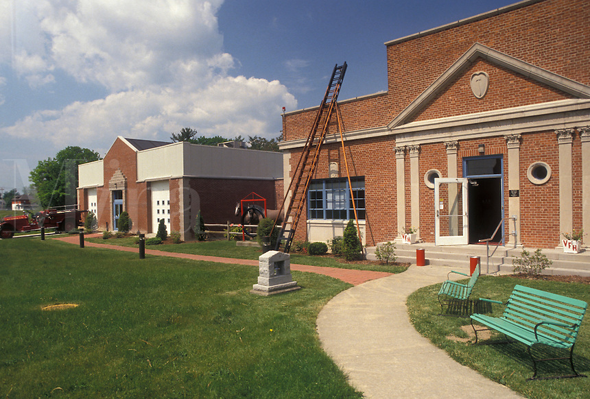 AJ4358, fire museum, Hudson River Valley Region, New York, American Museum of Firefighting in Hudson in the state of New York.