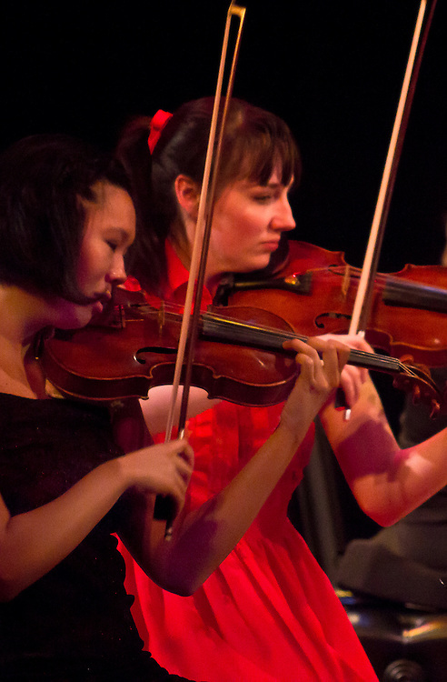 Centrum, Chamber Music Workshop, Fort Worden, June 16-21 2015, Quartet Elektra, Jocelyn Zhu, violin, Annika Bryann-Lascara Jenkins, violin, Wheeler Theater, Port Townsend, Washington State, Pacific Northwest,