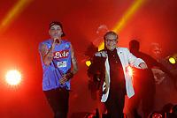 Nino D'Angelo festeggia i suoi 60 anni con un concerto nello stadio San Paolo di Napoli<br /> con Clementino