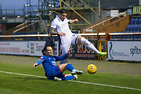23rd November 2019; Caledonian Stadium, Inverness, Scotland; Scottish Championship Football, Inverness Caledonian Thistle versus Dundee Football Club; Declan McDaid of Dundee is tackled by Brad McKay of Inverness Caledonian Thistle  - Editorial Use