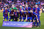 7th January 2018, Camp Nou, Barcelona, Spain; La Liga football, Barcelona versus Levante; The FC Barcelona team line-up before the start of the match