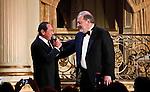 Carlos Slim Helu y Paul Anka During the Dwight D. Eisenhower global leadership award in New York, United States. 12/12/2012. Photo by Kena Betancur/VIEWpress.