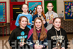 Duagh-Lyre Community Games Awards Night: Pictured at the Duagh-Lyre Community Games awards night at Duagh NS on Friday night last were the U/12 Relay silver medal winner. Front: Angharad Cudlippe, Aoibhheen Hart & Saoirse Dillon. Back : Noelle Dillon, Eimear Buckley & Lorna Moriarity.
