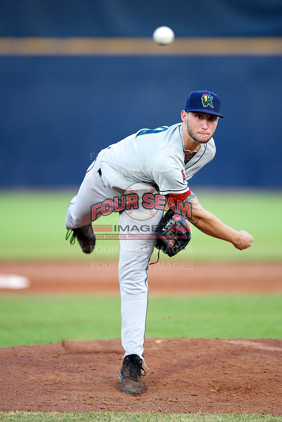 Cedar Rapids Kernels starting pitcher Frank De Jiulio #19 during a game against the Quad Cities River Bandits at Modern Woodmen Park on June 30, 2012 in Davenport, Illinois.  Quad Cities defeated Davenport 8-7.  (Mike Janes/Four Seam Images)
