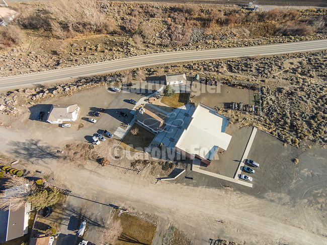 Humboldt County Museum aerials from the DJI quadcopter drone during Shooting the West XXVII, Winnemucca, Nev.