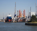 Dry dock shipyard Port of Rotterdam, Netherlands