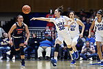 DURHAM, NC - DECEMBER 29: Duke's Jayda Adams. The Duke University Blue Devils hosted the Liberty University Flames on December 29, 2017 at Cameron Indoor Stadium in Durham, NC in a Division I women's college basketball game. Duke won the game 68-51.