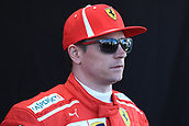 22nd March 2018, Melbourne Grand Prix Circuit, Melbourne, Australia; Melbourne Formula One Grand Prix, Arrivals and Press Conference; Scuderia Ferrari; Kimi Raikkonen
