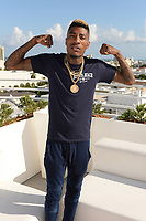 MIAMI BEACH, FL - OCTOBER 05: YFN Lucci poses for a portrait during the Empire Records DJ party held at Skydeck on October 5, 2018 in Miami Beach, Florida. <br /> CAP/MPI04<br /> &copy;MPI04/Capital Pictures