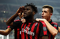 Frank Kessie of AC Milan celebrates with Krzysztof Piatek after scoring second goal for his side <br /> Milano 22-02-2019 Stadio Giuseppe Meazza in an Siro Football Serie A 2018/2019 AC Milan - Empoli <br /> Foto Image Sport / Insidefoto