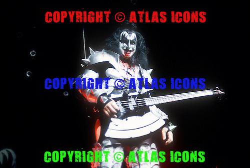 KISS; Gene Simmons; 1996 Live Reunion Tour; In New York City, <br /> Photo Credit: Eddie Malluk/Atlas Icons.com