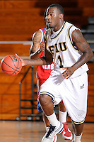 31 December 2009:   FIU's Antione Watson (1) handles the ball in the second half as the South Alabama Jaguars defeated the FIU Golden Panthers, 71-59, at the U.S. Century Bank Arena in Miami, Florida.