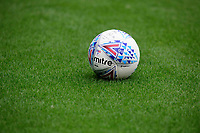 A close up of a Mitre Delta, an official EFL match football<br /> <br /> Photographer Chris Vaughan/CameraSport<br /> <br /> The EFL Sky Bet Championship - Rotherham United v Lincoln City - Saturday 10th August 2019 - New York Stadium - Rotherham<br /> <br /> World Copyright © 2019 CameraSport. All rights reserved. 43 Linden Ave. Countesthorpe. Leicester. England. LE8 5PG - Tel: +44 (0) 116 277 4147 - admin@camerasport.com - www.camerasport.com