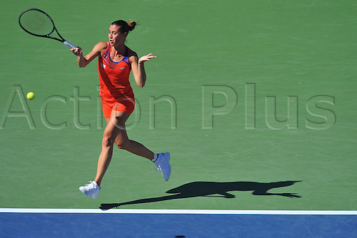 06.09.2013. Flushing Meadows New York, USA. US Open tennis tournament.  Flavia Pennetta (Ita) during her ladies semi-final singles match