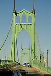 St. John's bridge in north Portland Oregon.
