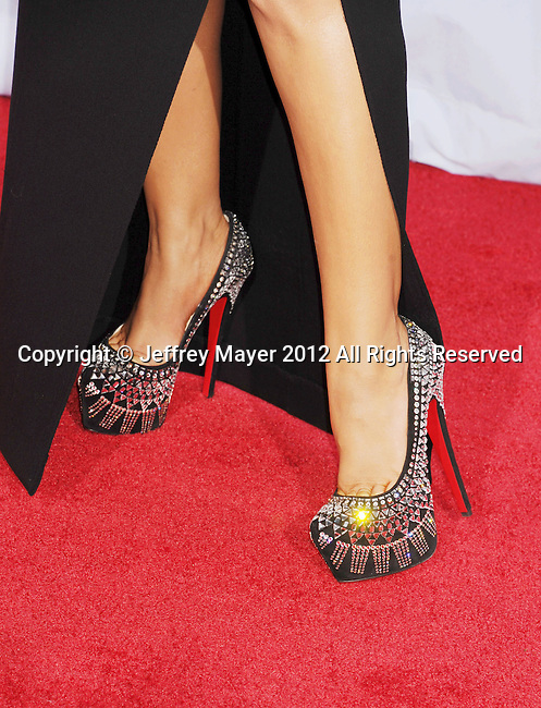 PASADENA, CA - SEPTEMBER 16: Christina Aguilera (shoe detail) at the 2012 NCLR ALMA Awards at Pasadena Civic Auditorium on September 16, 2012 in Pasadena, California.
