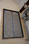 Historic interior unchanged since 18th century, Church of Saint Mary, Badley, Suffolk, England, UK - prayer board