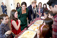 11 March 2019 - London, England - Meghan Markle Duchess of Sussex and Prince Harry Duke of Sussex during a Commonwealth Day Youth Event at Canada House in London. The event will showcase and celebrate the diverse community of young Canadians living in London. Photo Credit: ALPR/AdMedia