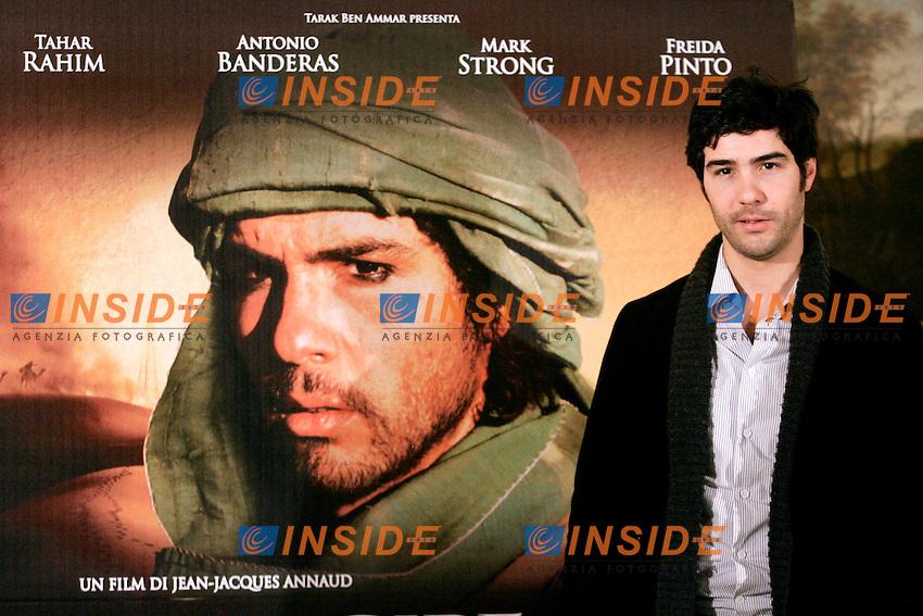 Tahar Rahim..Roma 13/12/2011 Il Principe del Deserto (Black Gold) Photocall all' Hotel Eden...Photo Samantha Zucchi Insidefoto