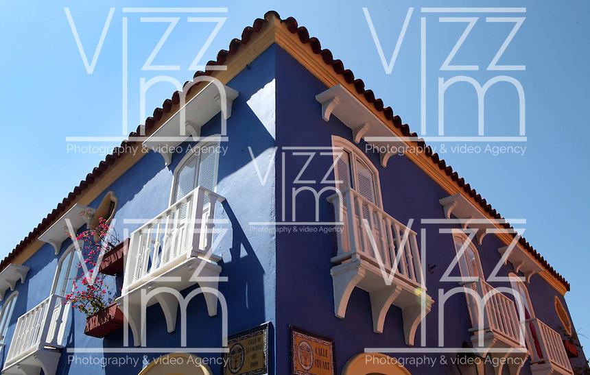 CARTAGENA-COLOMBIA-09-01-2013. Arquitectura Colonial en la Ciudad Amurallada de Cartagena de Indias, Colombia. Colonial architecture in the walled city of Cartagena de Indias, Colombia. (Photo: VizzorImage)..