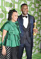 BEVERLY HILLS, CA - JANUARY 06: Mahershala Ali (R) and Amatus Sami-Karim attend HBO's Official Golden Globe Awards After Party at Circa 55 Restaurant at the Beverly Hilton Hotel on January 6, 2019 in Beverly Hills, California.<br /> CAP/ROT/TM<br /> &copy;TM/ROT/Capital Pictures