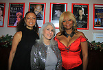 """Jamie deRoy (C) poses with One Life To Live Valarie Pettiford """"Sheila Price"""" and Another World """"Det. Courtney Walker"""" & All My Children Tonya Pinkins """"Livia Frye Cudahy"""" and also As The World Turns """"Heather Dalton"""" perform (sing) as a part of Jamie deRoy & friends.  (Photo by Sue Coflin/Max Photos)"""