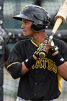 Pittsburgh Pirates Adrian Valerio (30) during minor league spring training on March 23, 2015 at Pirate City in Bradenton, Florida.  (Mike Janes/Four Seam Images)