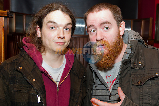 Marc O Connor and Richie Brennan having a night out in Sarsfields..Picture: Shane Maguire / www.newsfile.ie.