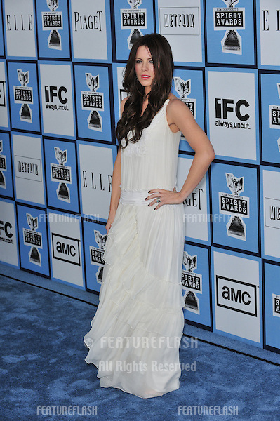 Kate Beckinsale at Film Independent's 23rd Annual Spirit Awards on the beach in Santa Monica, CA..February 23, 2008 Santa Monica, CA.Picture: Paul Smith / Featureflash
