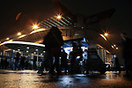 Fans hover around a roast chestnut cart outside the stadium before the Coppa Italia match at Giuseppe Meazza, Milan. Picture date: 13th February 2020. Picture credit should read: Jonathan Moscrop/Sportimage