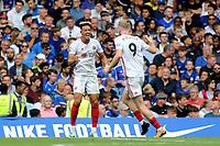 Sheffield United's Callum Robinson celebrates scoring their opening goal during Chelsea vs Sheffield United, Premier League Football at Stamford Bridge on 31st August 2019