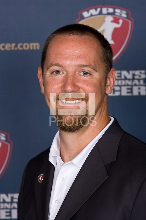 St. Louis franchise owner and CEO Jeff Cooper. The Women's Professional Soccer (WPS) US National Team Allocation Announcement at the Sports Museum of America in New York, NY, on September 16, 2008.